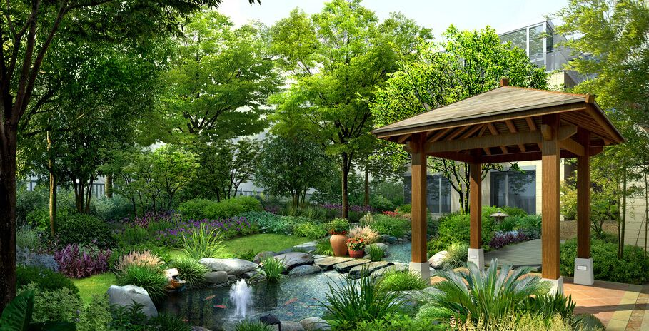 佛甲草绿雕,郑州园林景观设计,绿色大地