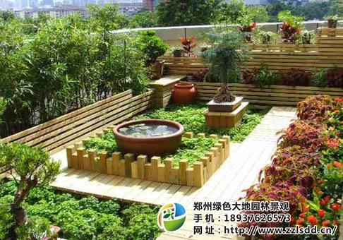 屋顶绿化,郑州绿色大地